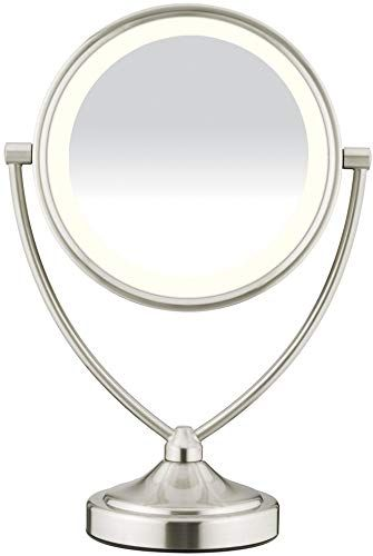 Amazing offer on Conair Natural Daylight Double-Sided Lighted Makeup Mirror – Lighted Vanity Makeup Mirror; 1x/10x magnification; Satin Nickel Finish online