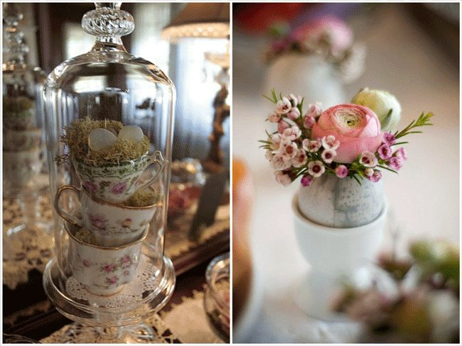 Pretty in Pink Florals {totally love the little egg cup} PosyRosy