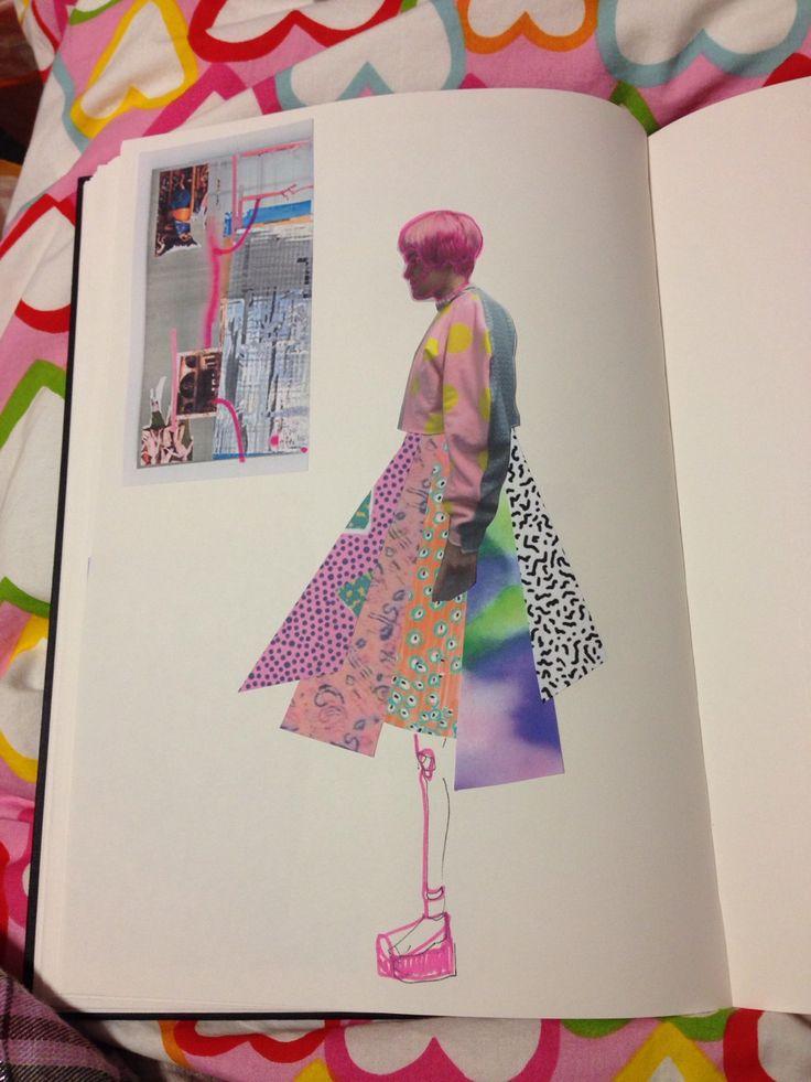printed jersey project - sketchbook work