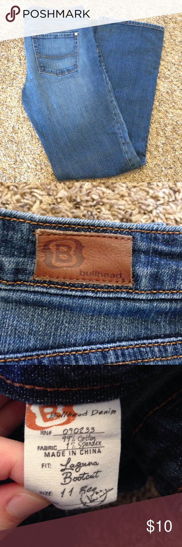 Women's Bootcut jeans Women's Bullhead jeans. Have been worn. Good condition, no rips or tears. Size 11, bootcut. Bullhead Jeans Boot Cut