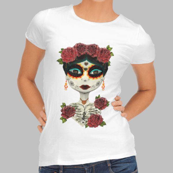 Camiseta de mujer La Catrina
