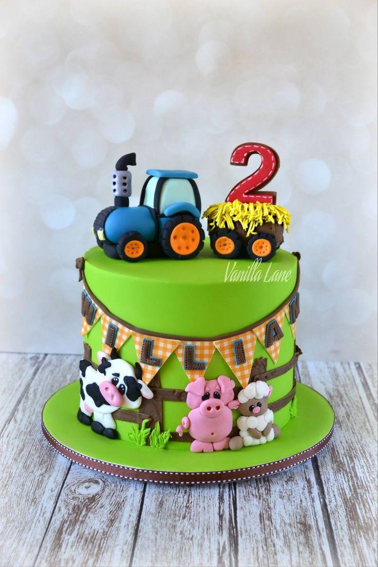 Vanilla Lane In 2020 Geburtstagskuchen Kinder Kuchen Kindergeburtstag Bauernhoftorte