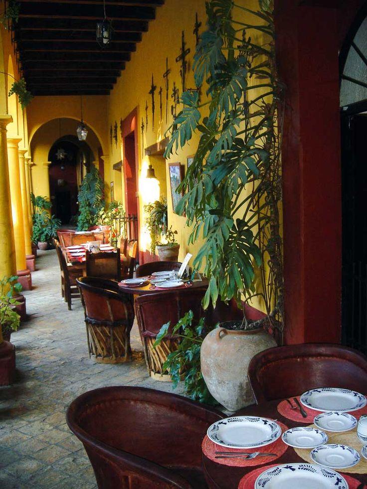 Casa Na Bolom courtyard, San Cristobal de las Casas, Chiapas, Mexico - one of my favourite places - the house of an anthropologist with a total oasis of a garden.