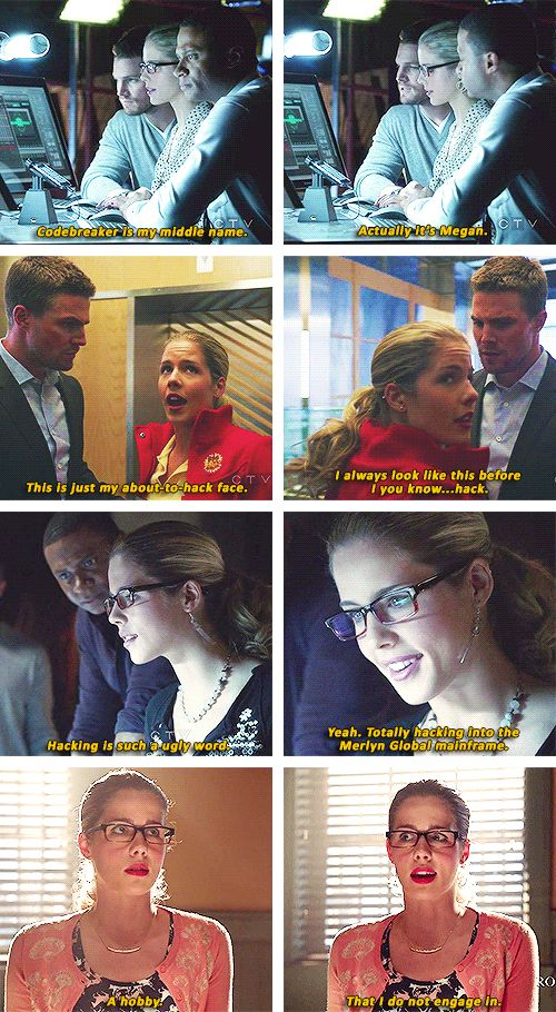 "Arrow - Felicity ""Codebreaker"" Smoak #Season1 <3"
