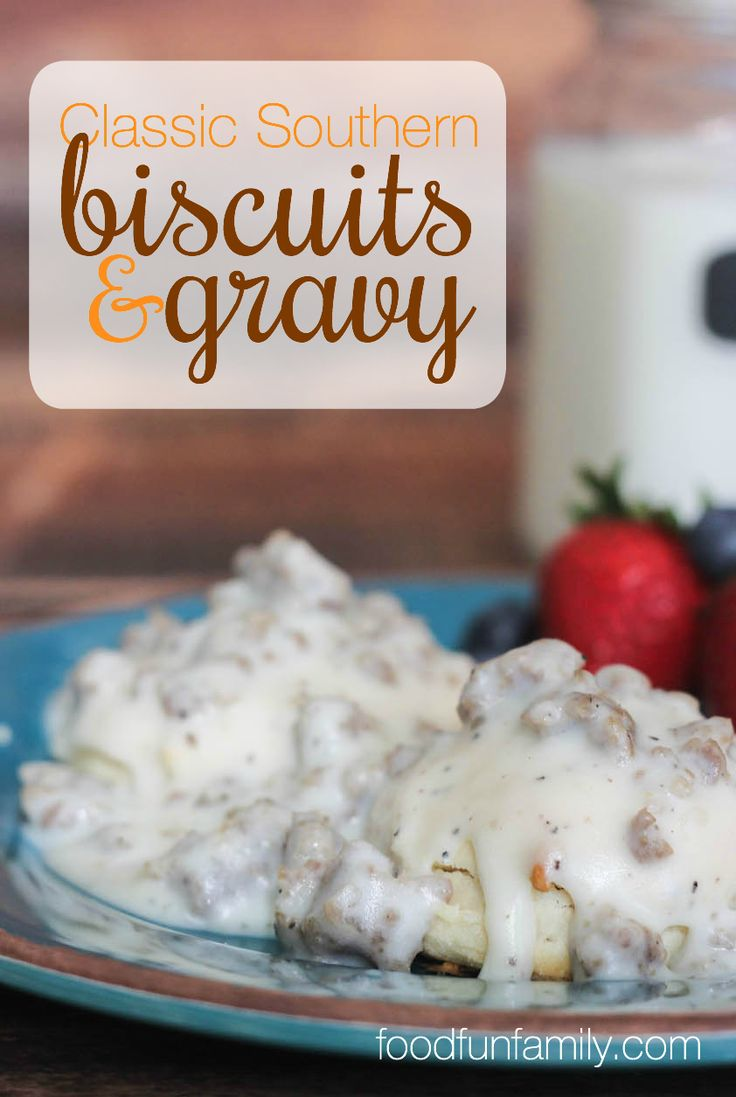 When I asked my Southern husband what classic recipe from the South he wanted me to make, he didn't hesitate to ask for Classic Southern biscuits and gravy. There's a reason these are so popular!