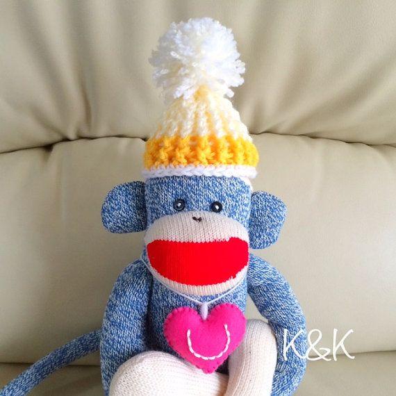 """I ♡ You"" Sock Monkey."