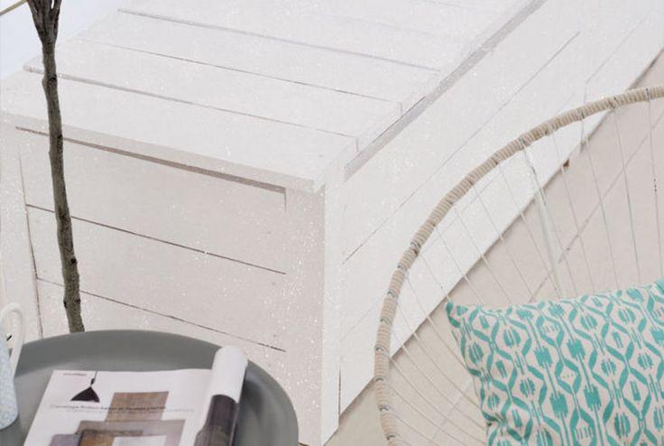 Relook bois murs et objets craie vernis paillet relook bois pour porte - Vernis paillete pour mur ...