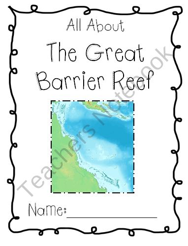 All About the Great Barrier Reef - Geography Packets for Kids from Cute in the Classroom on TeachersNotebook.com (5 pages) - Fun, cute learning packet to teach your students all about the Great Barrier Reef in Australia.