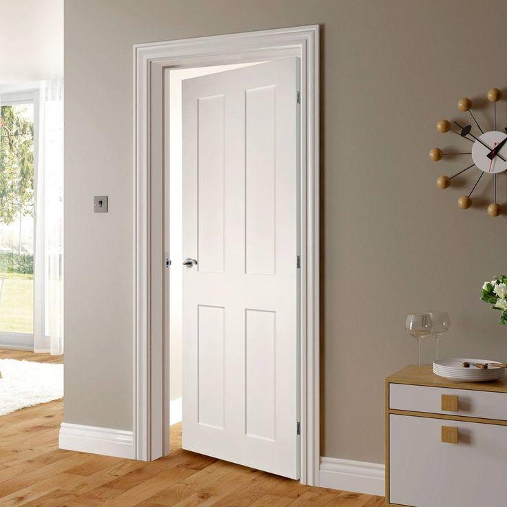 Eton White Primed Victorian Shaker Fire Door 1 2 Hour