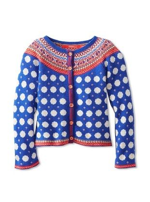 58% OFF Oilily Girl's 2-6x Kyrie Cardigan (Blue/White Polka Dot)