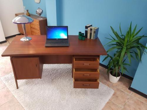 Schreibtisch, 70er Jahre, Skandinavisches Design, Teak ...