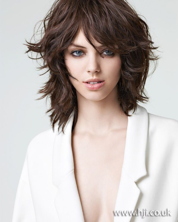 Womens Mid Length Hairstyles: 2012-textured-midlength-brunette-womens-hairstyle.jpg