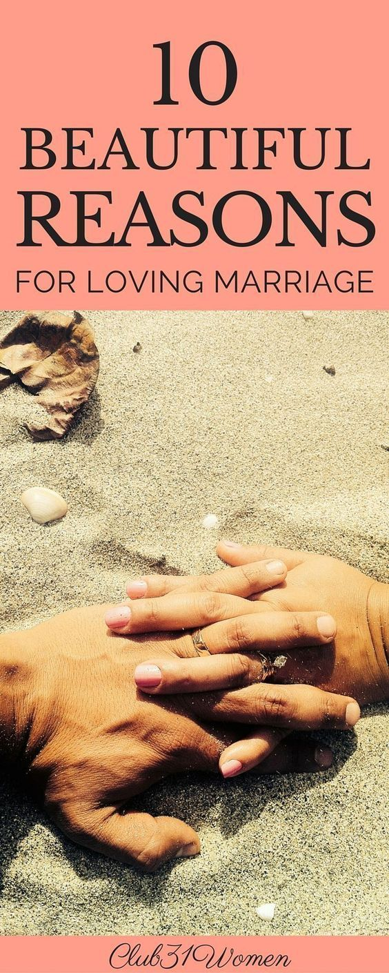 So much to LOVE!! Marriage isn't only about a lot of hard work. It can be rich and lovely and satisfying too. Here are 10 Beautiful Reasons For Loving Marriage.... ~ Club31Women