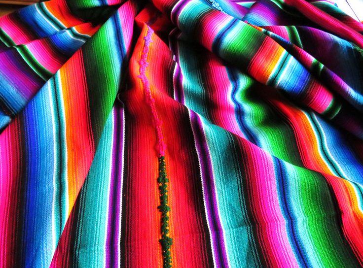 Tagesdecken - bunt gewebte Ethno Indio Decke RAINBOW Guatemala - ein Designerstück von santa-fee bei DaWanda