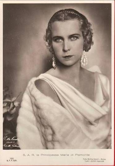 """Princess Marie José of Belgium was born Marie José Charlotte Sophie Amélie Henriette Gabrielle to Albert I of Belgium and Elisabeth of Bavaria. She married Umberto II of Italy, who was born Umberto Nicola Tommaso Giovanni Maria di Savoia, and they were nicknamed """"The May Queen and King"""" because their reign was only 35 days long."""