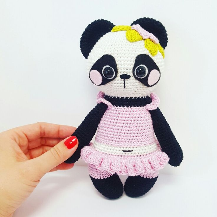 Crochet Pattern Nele Panda amigurumi Amalou.Designs