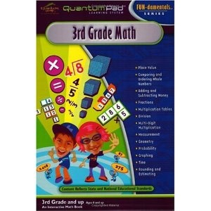 Quantum Pad Learning System: Third Grade Math Interactive Book and Cartridge (Diskette)