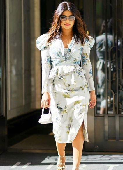 e9055741d0f1 Priyanka Chopra s floral dress is nothing like you ve ever seen before
