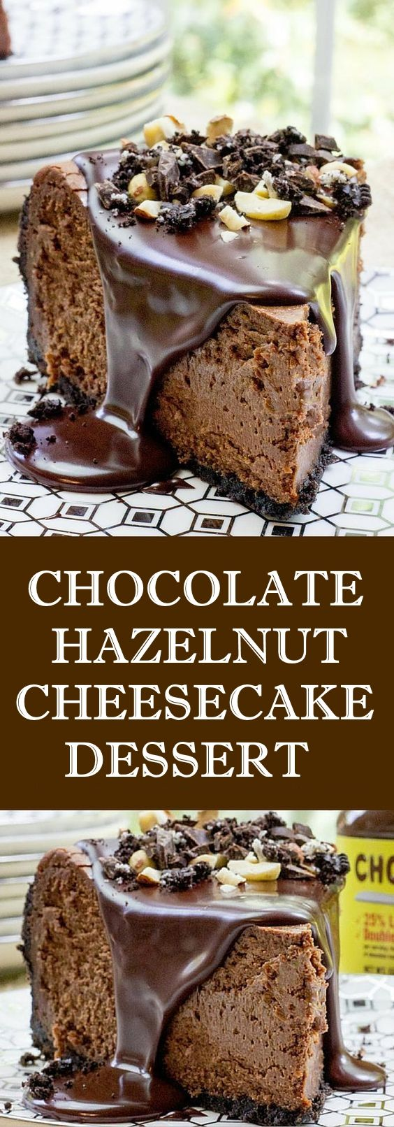 Chocolate Hazelnut Cheesecake Dessert http://healthyquickly.com/55-healthy-recipes-salads-haters/