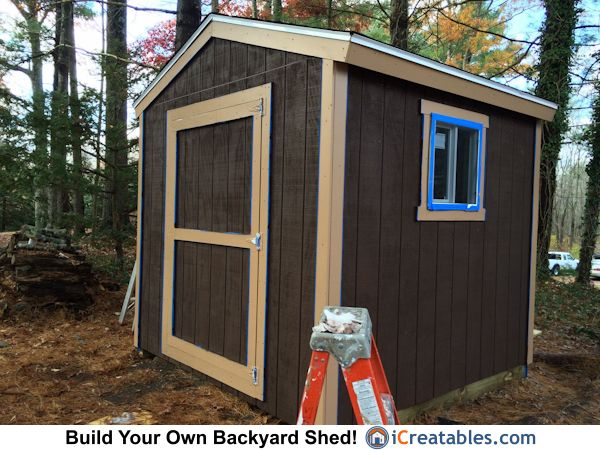 8x8 shed built in Halifax, MA from plans by iCreatables.com