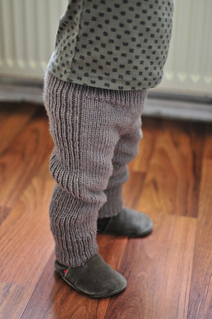 Free knitting pattern for Baby Pants -  These pants from DROPS Design are sized for 1/3 - 6/9 - 12/18 months (2 - 3/4) years. Pictured project is NaneR's First pants