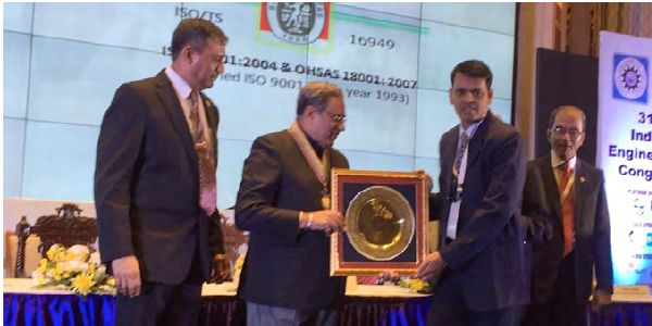 We are again happy to announce that Pricol Limited won the Industry Excellence Award, awarded by the Institution of Engineers (India) for Manufacturing & Processing at the 31st Indian Engineering Congress that was held at Kolkata in December 2016.