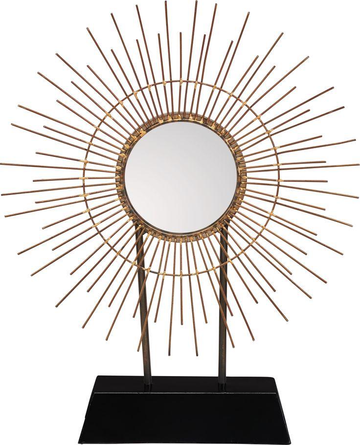 Ihr wollt Licht in euer Haus? Dieser Sonnenspiegel, dient nicht nur als Dekoobjekt - er fängt die Sonnenstrahlen ein und reflektiert sie wunderschön im ganzen Raum.