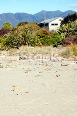 Kiwi Bach by the Beach Royalty Free Stock Photo