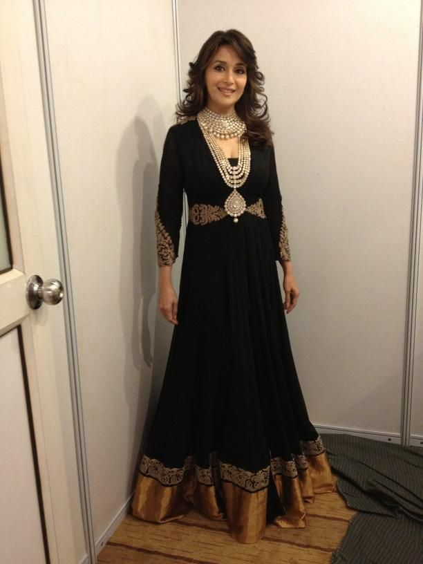 Madhuri Dixit in a beautiful Black Dress at the Jewelry Couture Week