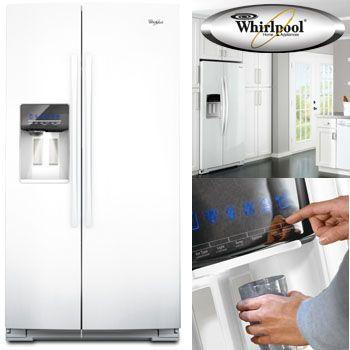 ワールプールWhirlpoolアメリカ大型冷蔵庫(冷凍冷蔵庫)2ドア冷蔵庫GSC25C4EYWホワイト白693L冷水ディスペンサー付【本州送料無料】大容量