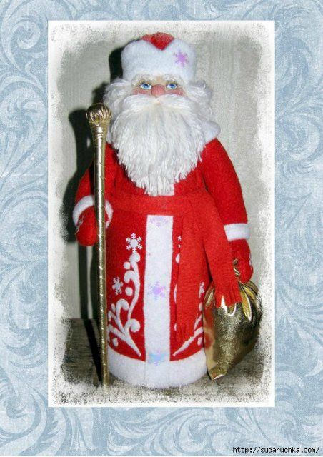 Кукла Дед Мороз. Выкройка   Домохозяйка