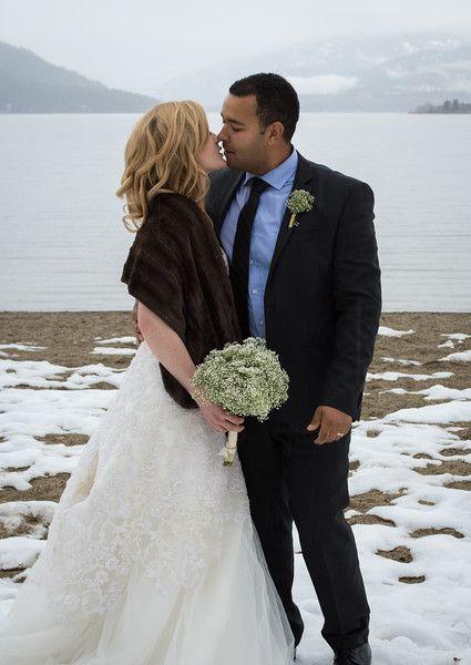 Christina lake, B.C Canada Winter wedding