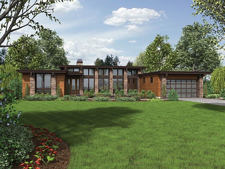 Contemporary-Modern House Plan with 2557 Square Feet and 3 Bedrooms from Dream Home Source | House Plan Code DHSW077168