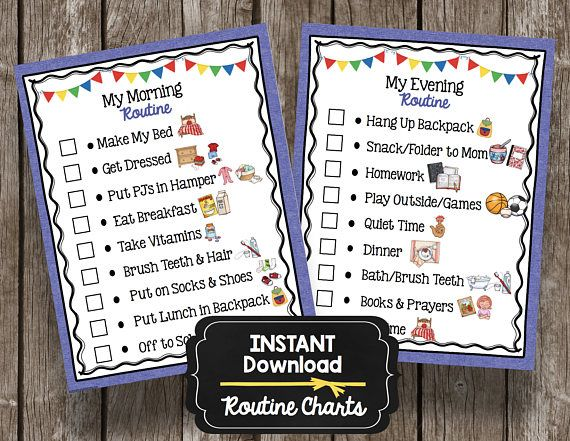 Both morning and evening routine charts are included in this INSTANT DOWNLOAD. These two high resolution PDFs will be available to you as soon as you checkout. I recommend to print on high quality card stock or photo paper. These are formatted as 8.5 x 11 - standard printer size.
