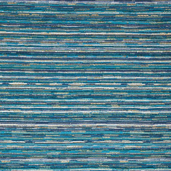Peacock Blue Tweed Upholstery Fabric By Popdecorfabrics On
