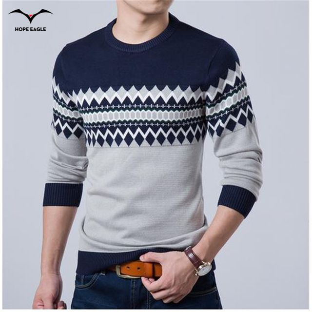 Best Selling $10.20, Buy 2017 New Autumn Fashion Brand Casual Sweater O-Neck Slim Fit Knitting Mens Sweaters And Pullovers Men Pullover Men XXL