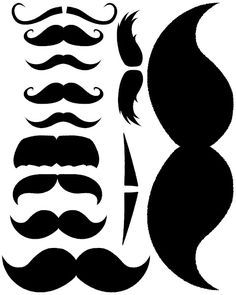 Printable staches for cups or props. Also great father's day printables! Bobbies reveal party***