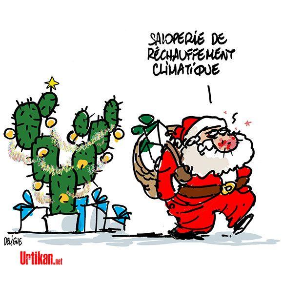 2015 : Un Noël très chaud ! - Dessin de Deligne