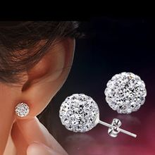 Free Shipping 10 Color 8 MM Shamballa Earrings Micro Disco Ball Shamballa Stud Earrings For Women Fashion Jewelry E1648 E1657(China (Mainland))
