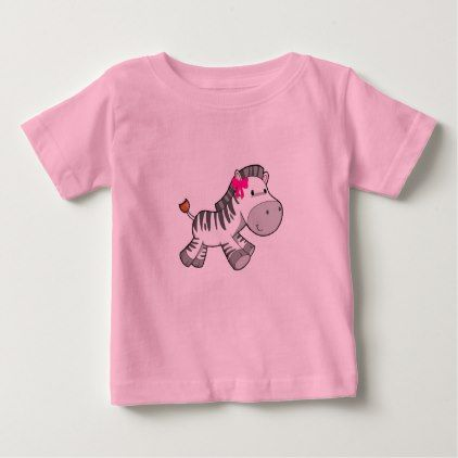 It's A Girl Baby Zebra Baby T-Shirt - baby gifts child new born gift idea diy cyo special unique design