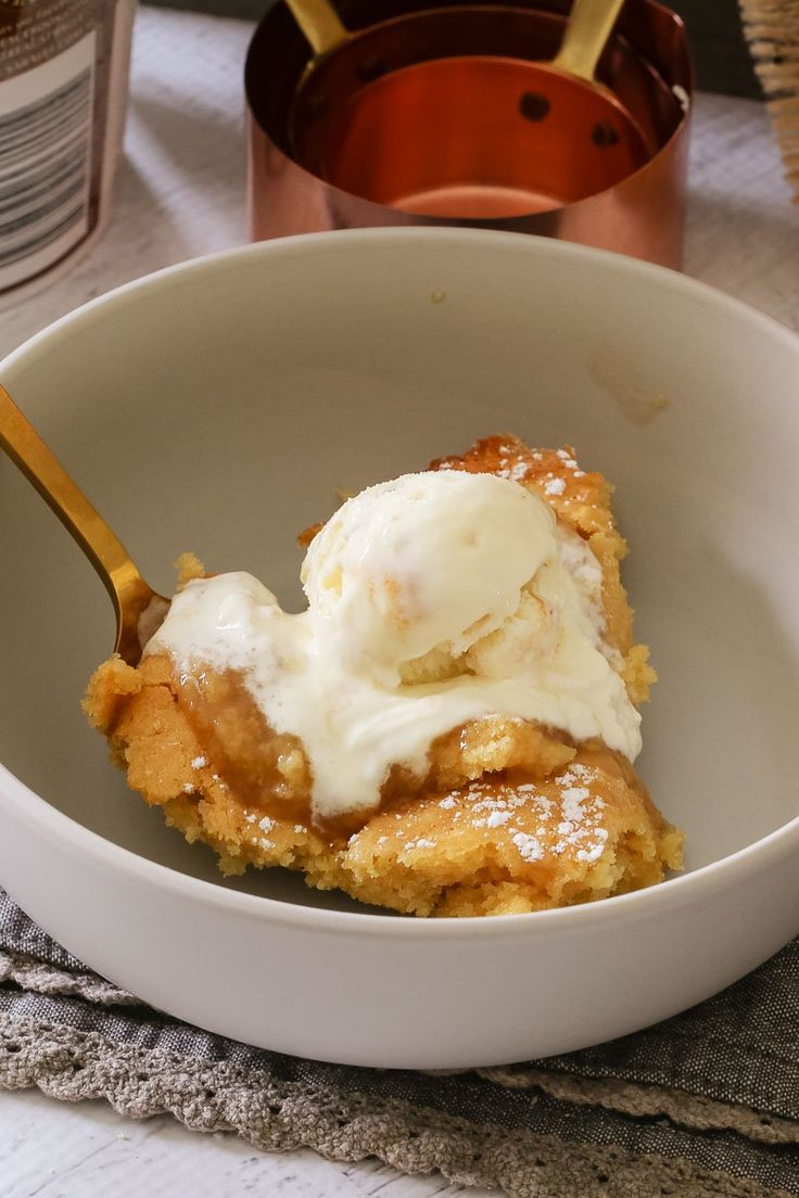 This easy Butterscotch Self Saucing Pudding is a classic family favourite. It takes less than 10 minutes to prepare and tastes AMAZING... especially served with a big scoop of ice-cream!