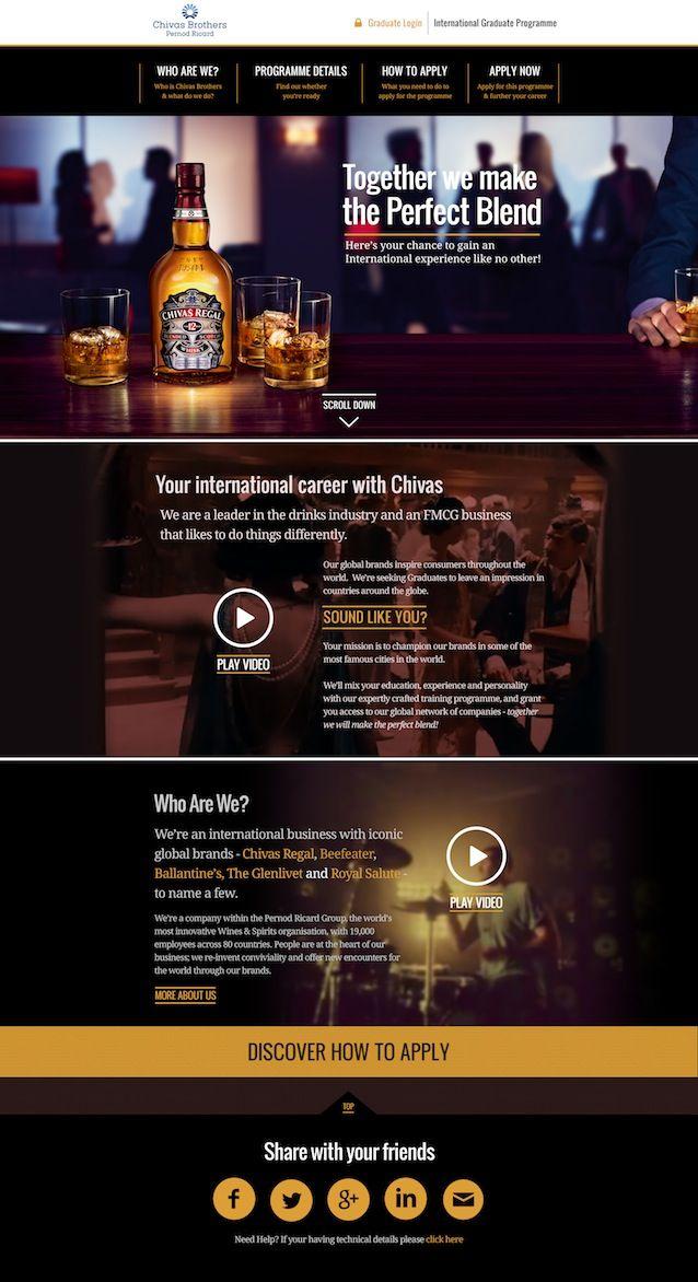 Chivas Brothers Graduate Website | Designed by Rubber Cheese | #webdesign #it #web #design #layout #userinterface #website #webdesign #soccer sports < repinned by www.BlickeDeeler.de | Visit our website www.blickedeeler.de/leistungen/webdesign