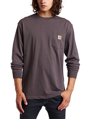 Cheap Carhartt Men  s Workwear Midweight Jersey Pocket Long-Sleeve T-Shirt Deals & Coupons