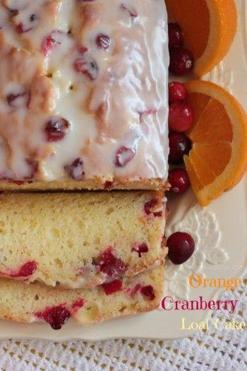 Orange Cranberry Loaf Cake