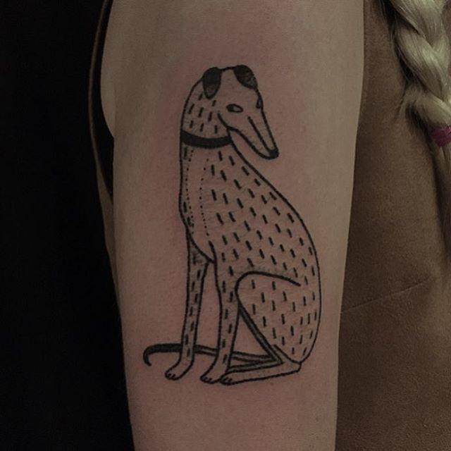 poked greyhound for caroline. @eastrivertattoo