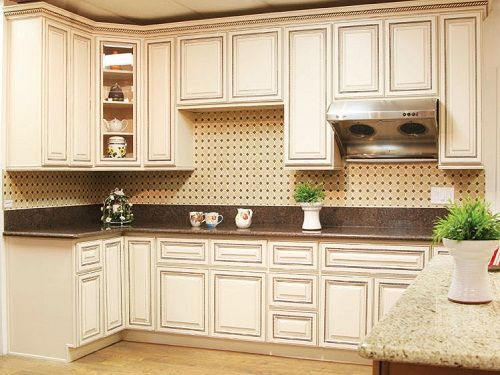 Antique Vintage Wood Kitchen Cabinets Kitchen Cabinets White Glaze Kitchen Cabinets White With Vintage Style