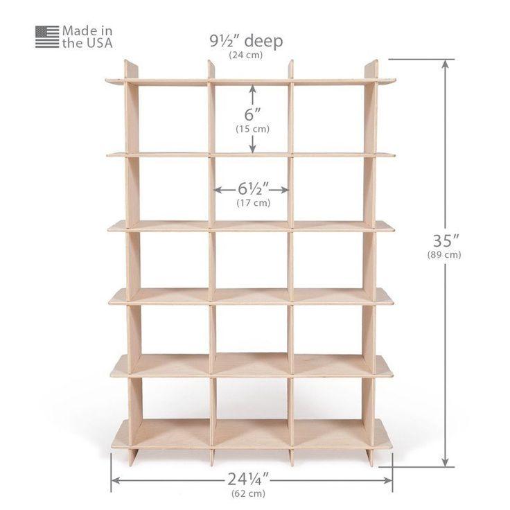 Dimensions of Wooden Shoe Shelf