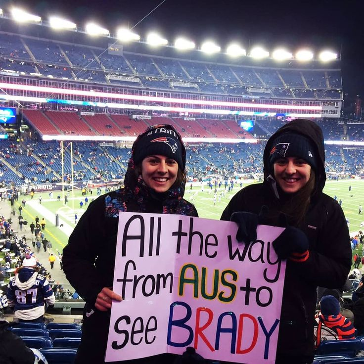 """Flashback to when @nessabela ticked an experience off her sports bucket list with her sister Jess: Going to a New England Patriots game and seeing Tom Brady live. """"Seeing the Patriots live was one of the greatest moments of my life. Seeing Brady lead the boys out the atmosphere was incredible and I've never said """"Let's Go"""" more in my life. Can't wait to do it all again!"""" #sportswhereiam"""