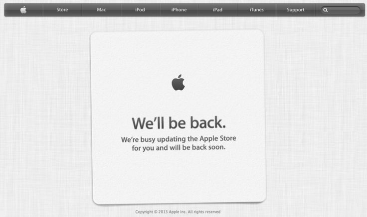 Apple Store down ahead of new iPhone launch event - http://vr-zone.com/articles/apple-store-ahead-new-iphone-launch-event/55651.html