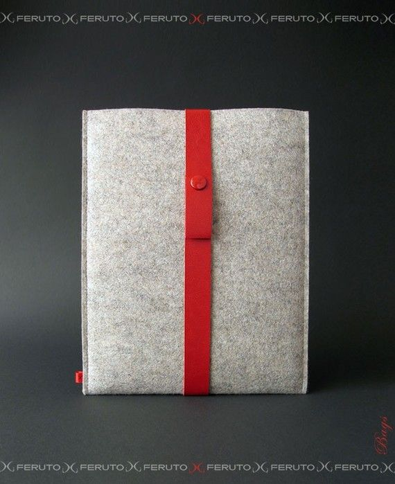 iPad sleeve FUSION german woolen felt and leather by FERUTOBags